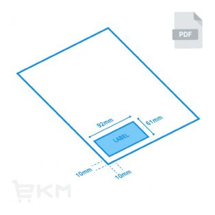 EKM Single Label Packaging Slip